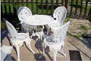 Alumínium öntvény kerti asztal és szék eladó Alföldapró.hu
